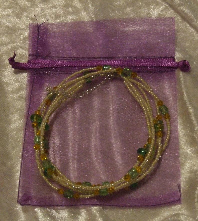 Multi Strand Czech Glass Beaded Necklace.