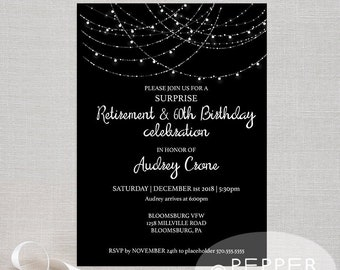 Engagement Party Invitation Lights Etsy