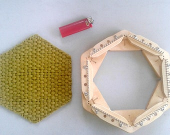The Hexperimenter  Collection -- max flexibility, min cost. Make 9 pin loom designs from reusable parts!