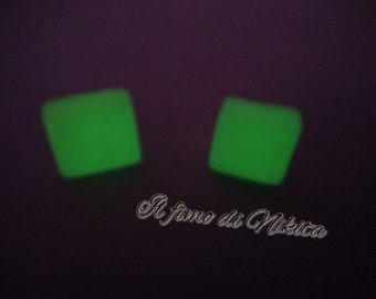 luminescent Square Earrings