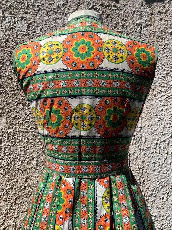 1950s Sundress, Midcentury Cotton Summer Dress - image 5