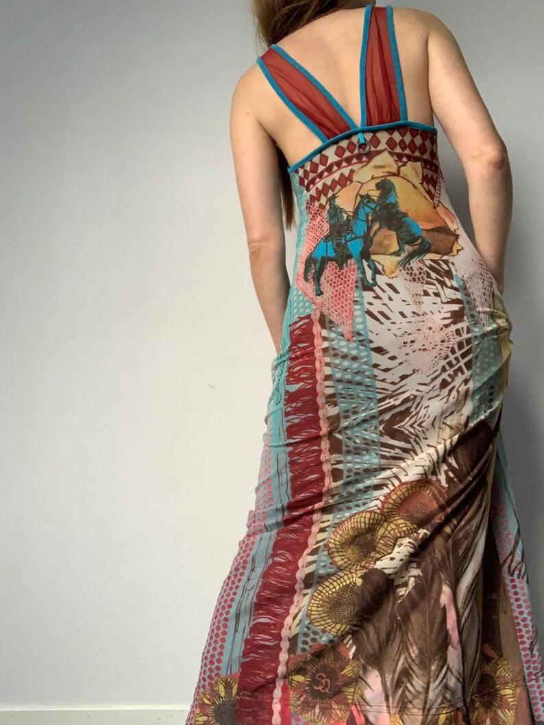 SAVE the QUEEN Punk Dress Vintage 1990\u2019s Dress Summer Dress Boho Dress Mesh Dress Layered Dress