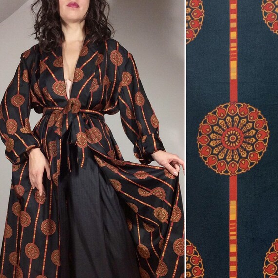 Art Deco Lounge Robe, Vintage Evening Robe, JACQUE