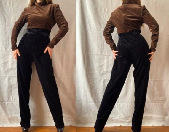 1990s Striped Velvet Jumpsuit JESSICA HOWARD Mock