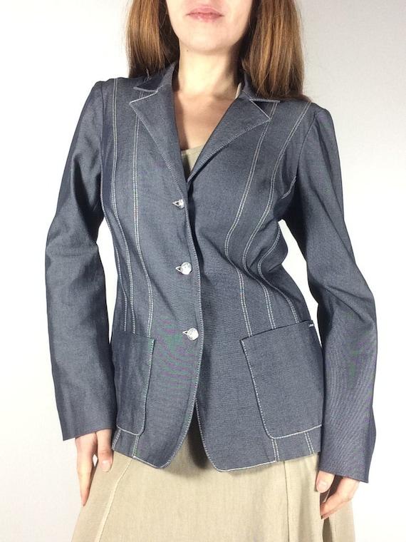 Blue Denim Jacket, KENZO Jeans, 1990's Jacket, Jea