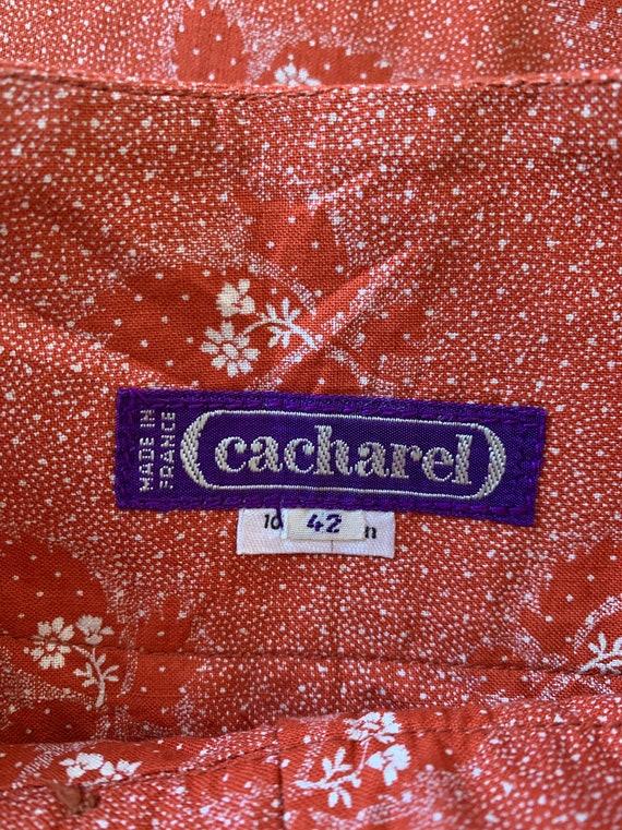 1970s Cotton CACHAREL Skirt, Summer Hippie Skirt - image 3