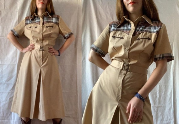 1970s Western Dress BETTY BARCLAY