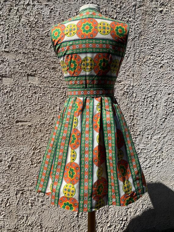 1950s Sundress, Midcentury Cotton Summer Dress - image 4