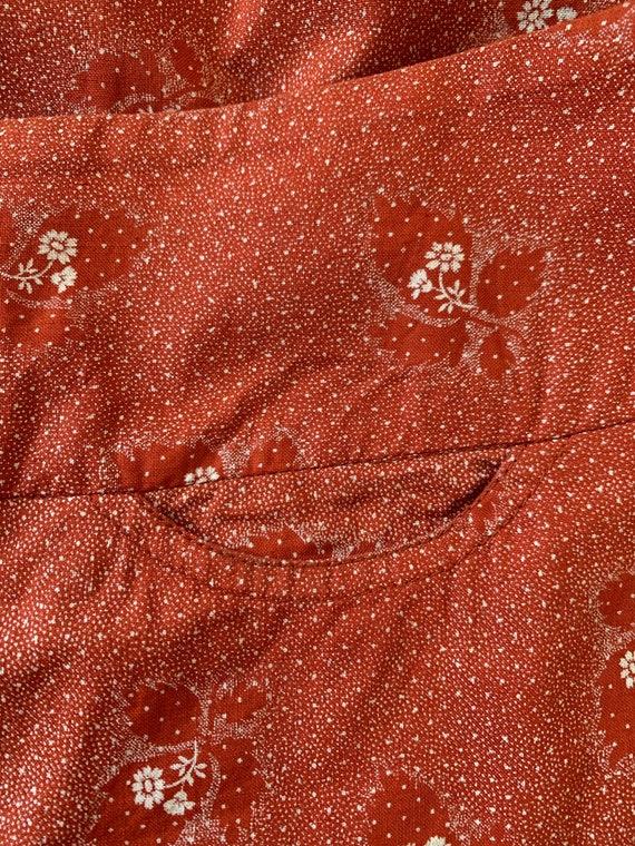 1970s Cotton CACHAREL Skirt, Summer Hippie Skirt - image 9