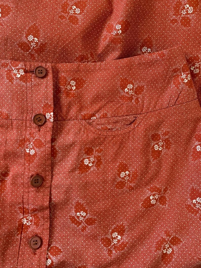 1970s Cotton CACHAREL Skirt Summer Hippie Skirt