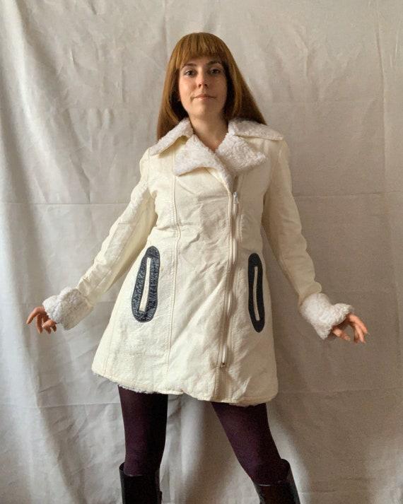 Rare 1960s VINYL Mod Coat, PVC Space Age Jacket