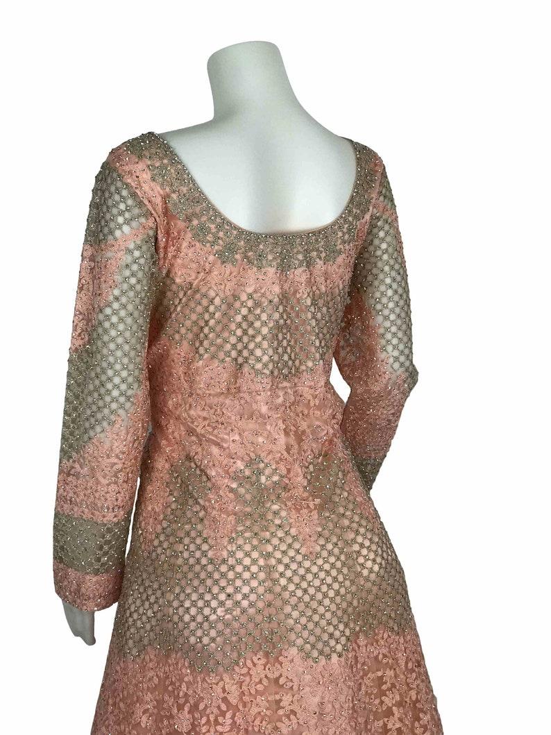 Bridal Engagement Reception Gown Indian Anarkali Dress Gown Designer Elegant Handwork