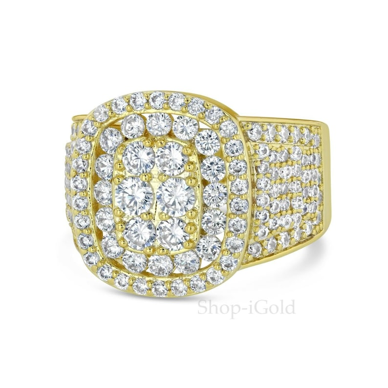 b0966e724ccf8 Men's Iced Out Hip Hop Lab Diamond Engagement Ring Wedding Pinky Ring Size  7-12