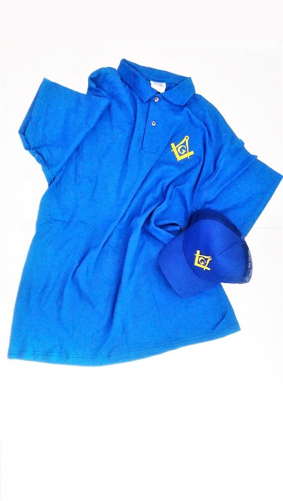 Masonic polo T-Shirt embroidered masonic gift or present for Freemasons