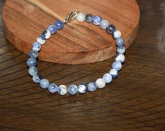 Simple Ocean Blue Bracelet, Summer Bracelets, Summer Jewelry, Simple Jewelry