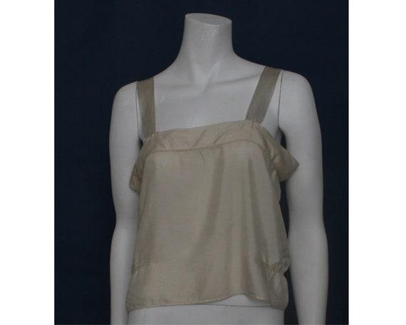 """Vintage cream silk cami camisole  vest top 37"""" Bus"""
