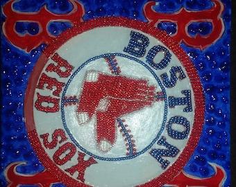 Beaded Boston Red Sox