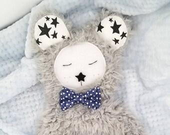 Twinkle bear lovie / baby security blanket / minky lovie / gender neutral lovie