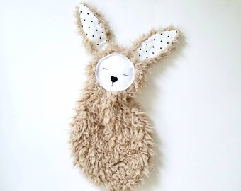 Bunny lovie/ baby lovey / personalized baby lovie / gender neutral lovie / lovie