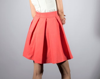 Back to school Salmon Midani skirt, party skirt, office skirt