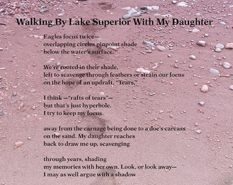 Walking By Lake Superior With My Daughter