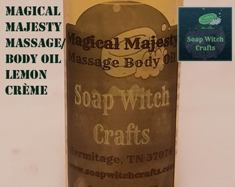 Magical Majesty - Lemon Crème Massage Oil, Normal Skin Body Oil, Moisturizing, Relaxing, Pure Natural Oil