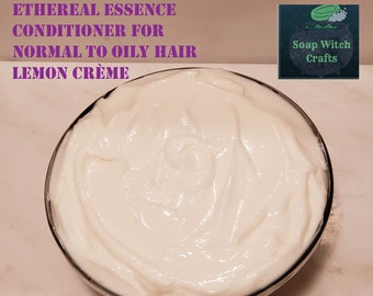 Ethereal Essence - Conditioner for Normal to Oily Hair, Lemon Crème Scented, Silky Smooth Detangling Conditioner, Creamy Light Weight
