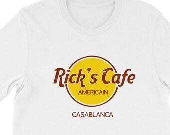 cdc48167 Casablanca Rick's Cafe Shirt, Casablanca, Rick's Cafe Americain, We'll  always have Paris, The Blue Parrot, Humphrey Bogart, Ingrid Bergman