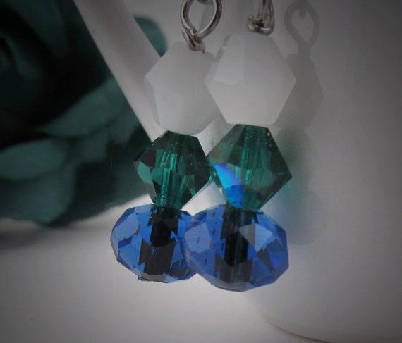 Irish Saint Saint/'s Earrings Saint/'s Bracelet Saint Patrick of Ireland Green and  Blue Bracelet with Earrings