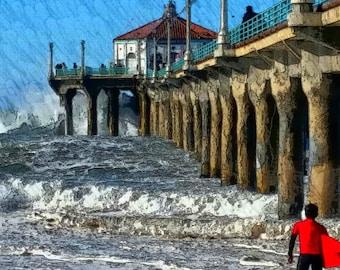Manhattan Beach California Surfer...when to get in?