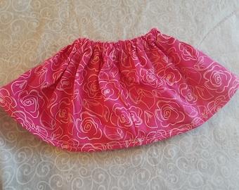pink flower skirt