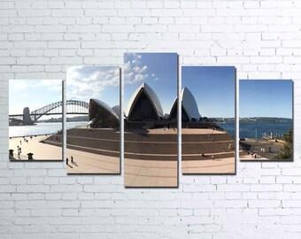 Sydney Opera House 5pc Canvas Set