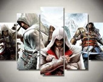 Assassins's Creed 5pc Canvas Set