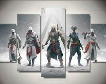 The Assassins's Creed 5pc Canvas Set