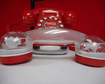 Coca-Cola Snow Dome Telephone