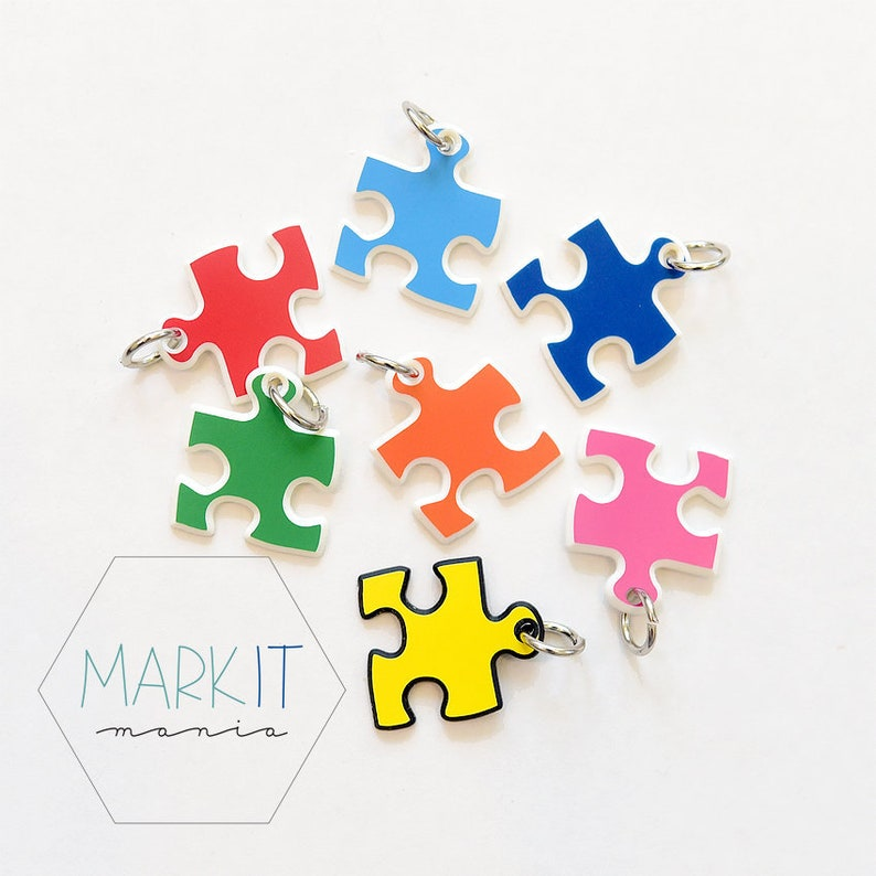 Autism Charms Puzzle Piece Awareness Be Kind Special Needs Etsy