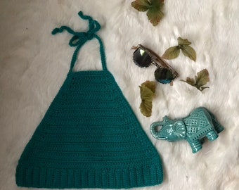 crochet halter crop top