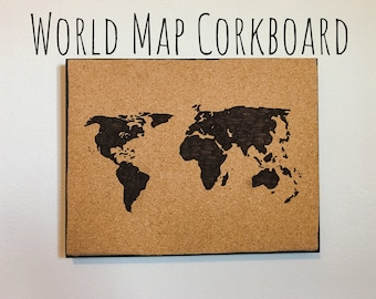 Corkboard map etsy more colors world map corkboard gumiabroncs Gallery