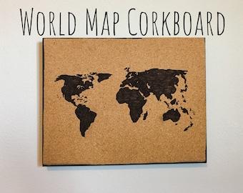 Corkboard map | Etsy