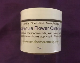 Organic Calendula  (Calendula officinalis) Flower Ointment for bruises, fractures, scrapes and rashes