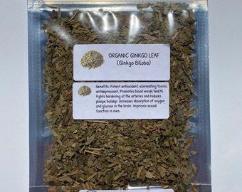 Organic Ginkgo Leaf (Ginkgo biloba)