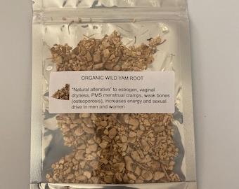 Organic Wild Yam Root (Dioscorea villosa)