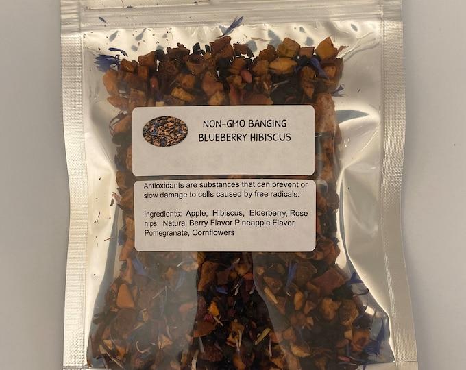 Non-GMO Banging Blueberry Hibiscus (Cyanococcus / Hibiscus rosa-sinensis)