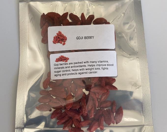 Organic Goji Berries (Lycium barbarum)