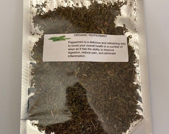 Organic Peppermint (Mentha xpiperita)