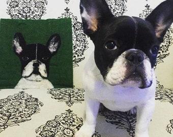 Custom felted Pet Portraits