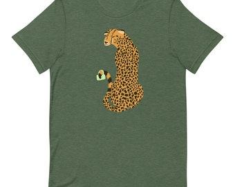 Cheetah Tea Party Pal Short-Sleeve Unisex T-Shirt
