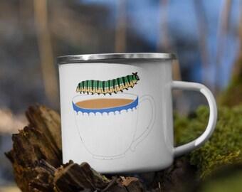 Caterpillar Tea Party Enamel Mug