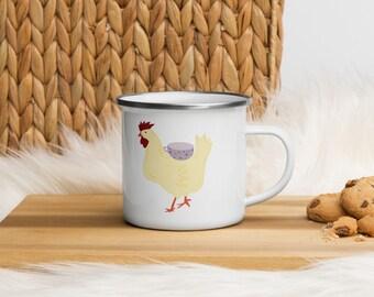 Chicken Tea Party Enamel Mug