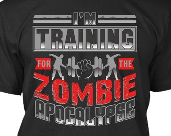 Download Free I'm Training For The Zombie Apocalypse, Workout, Digital Download, Mockup Included! PNG File DTG, POD Printing, Not a t-shirt, Pod Pros PSD Template